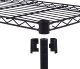 Organizador de poca potencia casero de epoxy negro de la estantería del estante del alambre de metal de las gradas DIY del almacenaje 3