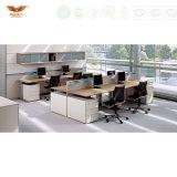 Modèle de bureau de compteur de bureau de 6 portées avec le poste de travail en bois de bureau de mélamine