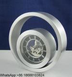 작은 금속 원형 탁상용 시계, 원형 금속 시계