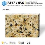 Искусственного кварца камень с черными игристое стекло для Countetops коричневого цвета