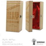 Hongdao unfertiger hölzerner Wein-Geschenk-Großhandelsablagekasten für eine Flasche mit Zwischenlage _E