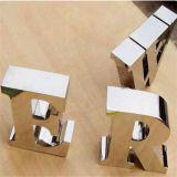 Polissage miroir Custom 3D signe la lettre de métal