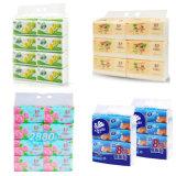 Prensa do papel de toalha de mão da máquina de embalagem do tecido facial de 10 sacos