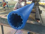 3 миллиона молекулярных весов чистого голубого цвета UHMWPE Pipe