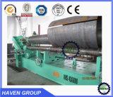 W11S-40X3200 3-Rouleau supérieur hydraulique universel de la plaque de roulement de flexion de la machine en acier