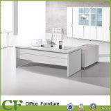 Da mobília de madeira branca do escritório da cor dos CF mesa executiva moderna