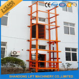Industryのための14m Hydraulic Goods Guide Rail Chain Lift Use