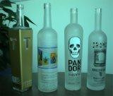 De naar maat gemaakte Lege Wodka Berijpte Fles van het Glas 750ml