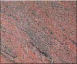 Granit de Red, tuile de granit de rouge indien et galettes en couleurs