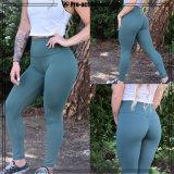 Pantaloni potati di yoga di forma fisica di modo di forma fisica di usura delle donne su ordinazione dello Spandex