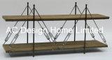 2 Уровень старинной Vintage украшения из дерева/Металлические полки детали