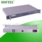 шкаф CATV EDFA 24dBm 1 u 19 '' крытый высокой эффективности с портом RJ45 и RS232 для разрешений FTTX