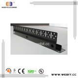 1u 19 Zoll-Pinsel-Panel mit rückseitigem staubdichtem kabelndem Management-Panel