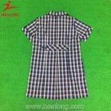 중국 소녀를 위한 신선한 디자인 셔츠 격자 무늬의 셔츠