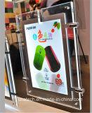 ライトボックスを広告する水晶媒体の広告の壁の台紙の超薄いLED表示