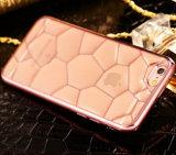 Caso Electroplated Shockproof da tampa da borda TPU do ouro da caixa quente do telefone do cubo 3D da água do produto novo para a caixa do acessório do telefone móvel do iPhone 6