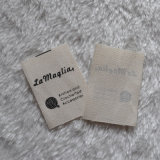 Diseño material de la escritura de la etiqueta de la ropa del algodón poner crema natural