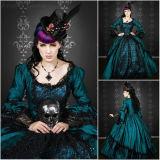 Freeshipping! De klant aan Orde r-001 1860s Toga Scarlett van de Bal van de Schoonheid van Victoriaanse Zoete Lolita/van de Burgeroorlog de Zuidelijke kleedt zich