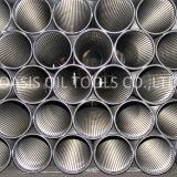 Todo el tubo soldado de la ranura del acero inoxidable de la pantalla de alambre de la cuña