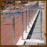 Aço inoxidável da balaustrada do cabo dos trilhos do cabo do aço inoxidável (SJ-X1021)