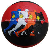 Baloncesto oficial del caucho del color del doble de la talla