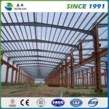 Estructura de acero prefabricada con los paneles de las lanas de la fibra