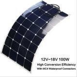 Panneau solaire du panneau solaire 100W 18V de prix intéressant de film mince flexible solaire semi flexible de module
