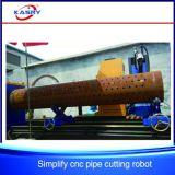 Perforación del orificio de la cortadora del plasma del CNC/máquina que ranura para los bragueros del tubo de acero/del tubo