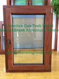 미국식 안쪽 오프닝 유리제 경사 & 회전 Windows, 스페인 클라이언트를 위한 단단한 오크재 여닫이 창 Windows