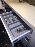 MDFの白い光沢によって焼かれるペンキの食器棚(N15-4)