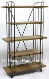 5 de Antieke Uitstekende Houten Decoratie van de rij/de Houder van de Prijs van de Plank van de Driehoek van het Metaal