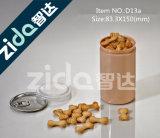Tarro plástico de la venta del tapón de tuerca caliente de la alta calidad con la tapa de aluminio