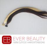 Nanoリングの前に担保付きのバージンの毛100%の人間の毛髪