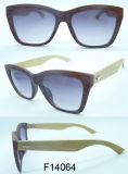 F14064 Good Quality Bamboo Sunglasses mit Polarised Lens