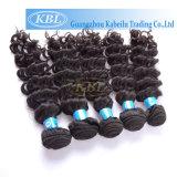 Real Remy Fish Line Extensões de cabelo ondulado com ombre de cabelo