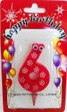День рождения & свечка торта партии счастливая
