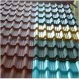 カラーによって塗られる電流を通された鋼鉄屋根ふきまたは波のタイルの屋根ふきか台形タイルの屋根ふき