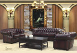 Mobilia di cuoio di vendita superiore del sofà di Chesterfield