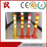 Orange PU ressort de sécurité du trafic souple en plastique Post