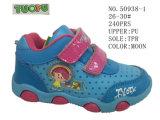 Nr 50938 de Schoenen van het Blauwe en Roze van de Kleur van de Baby van de Schoenen Magische Jonge geitje van de Band