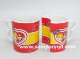 Karikatur-Porzellan-Paar-Cup Qlb024