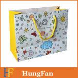 Hot vender niños Estilo Papel Bolsa de compras / Bolsa de papel de regalo con el ojal