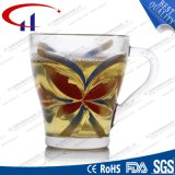 230ml Wholesale Glaswasser-Becher mit Blume (CHM8074)
