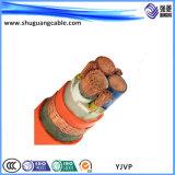 Yjvp 5 ядер XLPE изоляцией ПВХ пламенно экранированный кабель питания