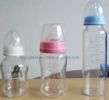 Бутылки воды молока стеклянные для качества еды младенца подавая