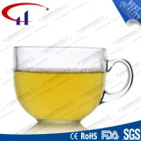 470ml Hot Sell Printed Flower Glass Mug (CHM8113)