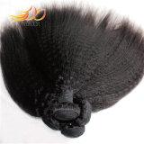 8A高品質のバージンの毛の織り方を編むねじれたまっすぐなビルマの毛