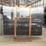 Черный Серебряный дракон мраморная плита/черного мрамора с белыми ключе /черными мраморными плитками на полу