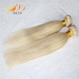 Estensione bionda dei capelli di colore dei capelli Burmese diritti serici di Remy