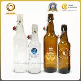 Zoll 750ml 500ml löschen bernsteinfarbige Bier-Glasflasche mit Schwingen-Oberseite-Schutzkappe (499)